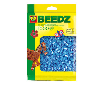 Beads 1000 pieces sky-blue