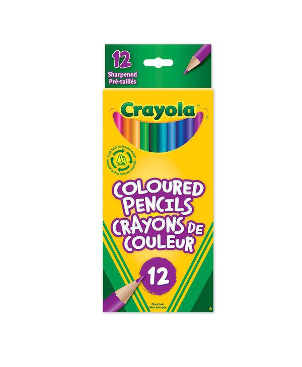 12 Crayons de couleur en bois