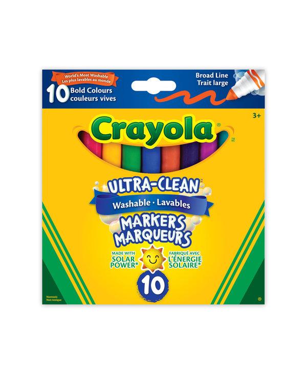 10 marqueurs lavables couleurs vives