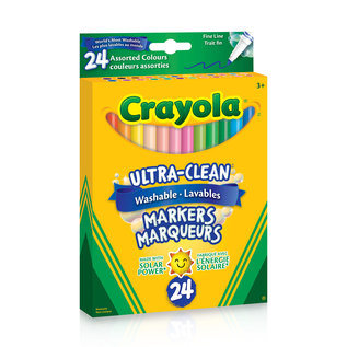 Crayola 24 Feutres Fins Lavable