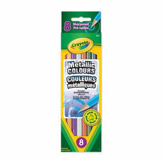 Crayola 8 Crayons bois metalliques