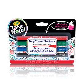 Crayola 4 Marqueurs effaçables à sec