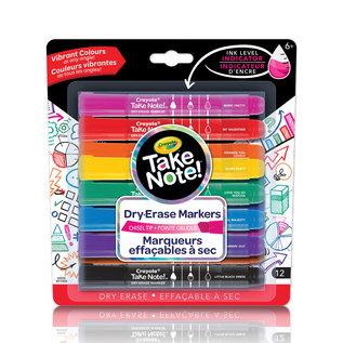 Crayola 12 Marqueurs effacable a sec Take Note