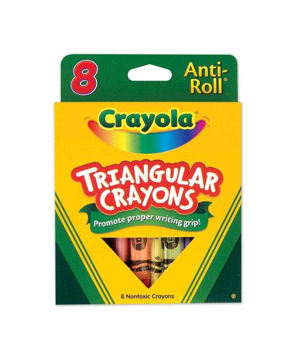 CRAYOLA 8 CRAYONS TRIANG. 4008
