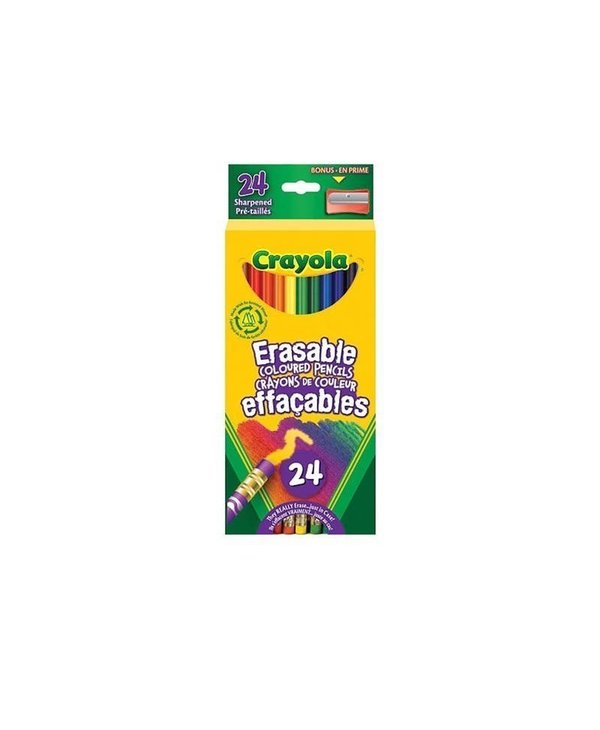 24 Crayons bois effaçable