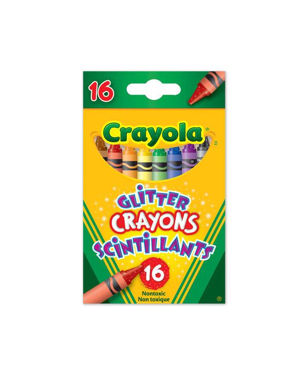 16 Crayons scintillants