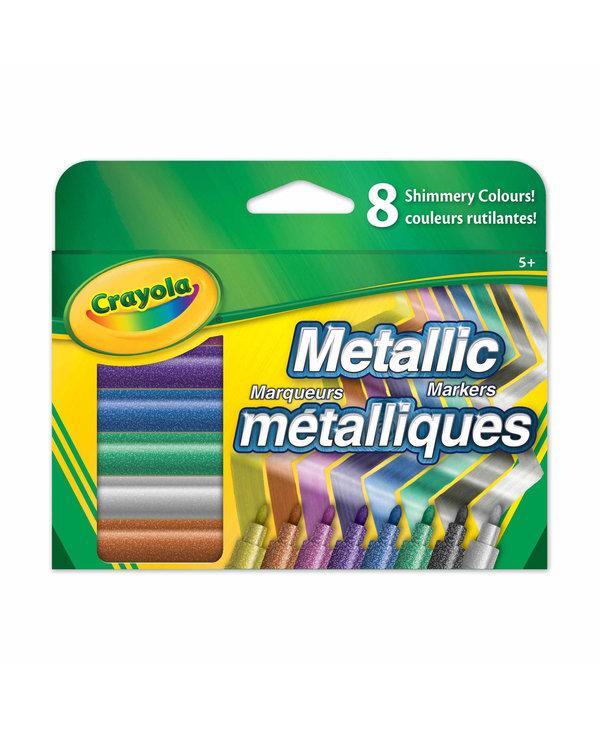 CRAYOLA 8 METALLIC MARKERS