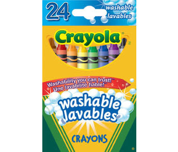 24 Crayons cire Lavable