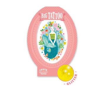 Big tattoo - Aqua blue