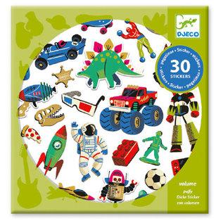 DJECO Autocollants - Retro toys