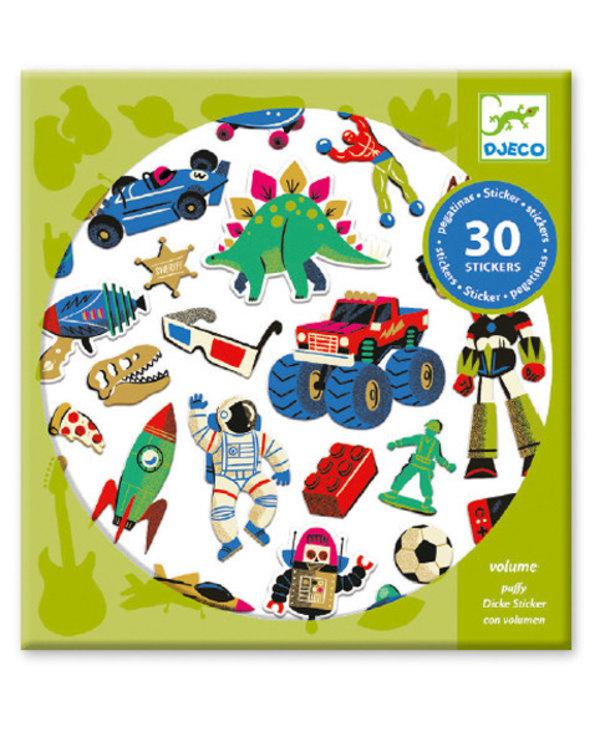 Autocollants - Retro toys