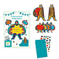 DJECO 8 Invitation Cards - Superheros
