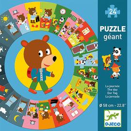 DJECO Puzzle géant / La journée  24 pcs