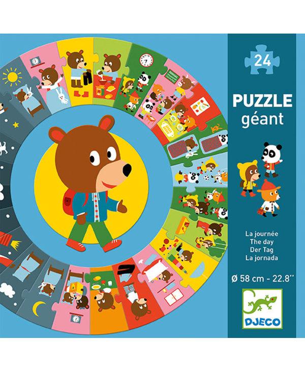 Puzzle géant / La journée  24 pcs
