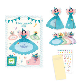 DJECO 8 Invitation Cards / Fairies