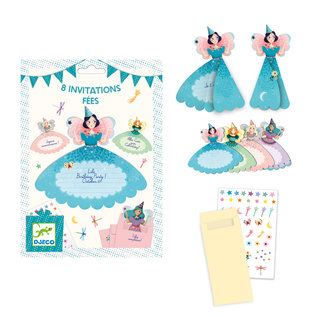 DJECO 8 Invitation Cards / Fairies