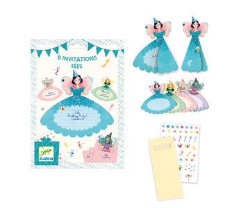 8 Invitation Cards / Fairies