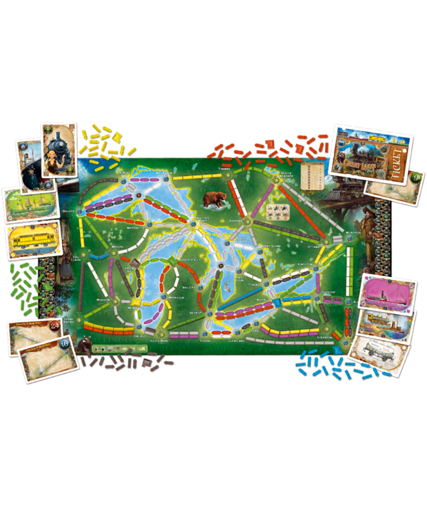 Ticket to ride - Rails & Sails /Great Lakes (FR)