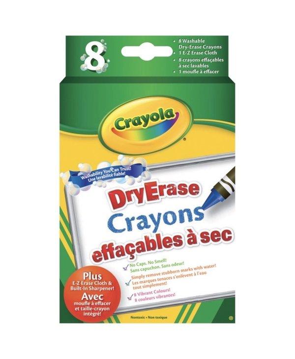 Crayons cire effacables à sec