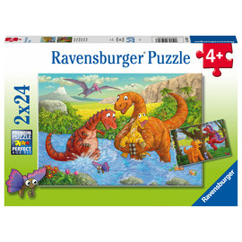 PZ2x24 Dinosaurs at Play