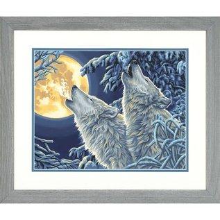 Paintworks Loups au clair de lune