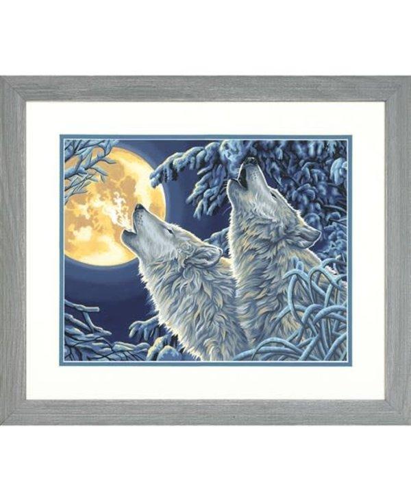 Loups au clair de lune