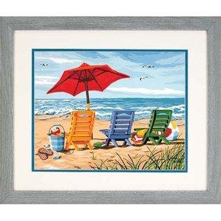 Paintworks Trois chaises de plage