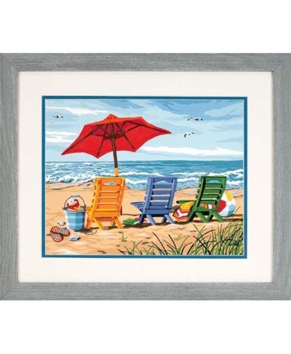 Trois chaises de plage