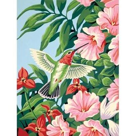 Paintworks Hummingbird & Fuchsias