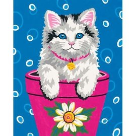 Paintworks Flower Pot Kitten