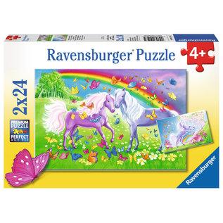 PZ2X24 Horses & Butterflies