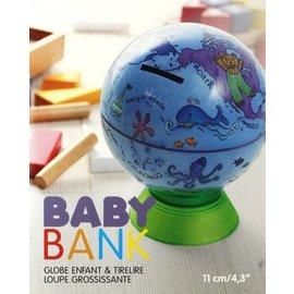 Globe enfant tirelire