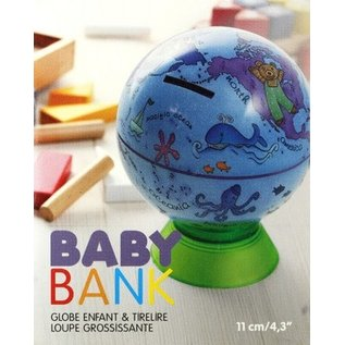 Globe enfant tirelire