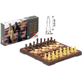 Cayro Magnetic Chess & Checkers Small