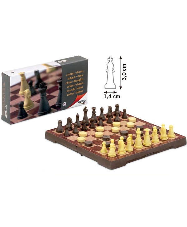 Magnetic Chess & Checkers Small