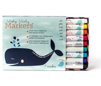 Marqueurs Wishy Washy - 9 couleurs
