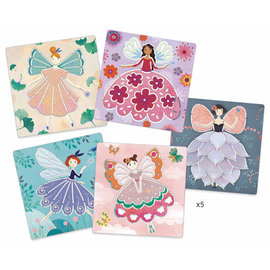 DJECO 5 Stencils - Fairies