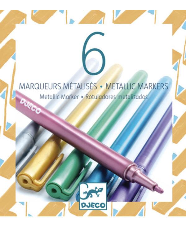6 Metallic Markers