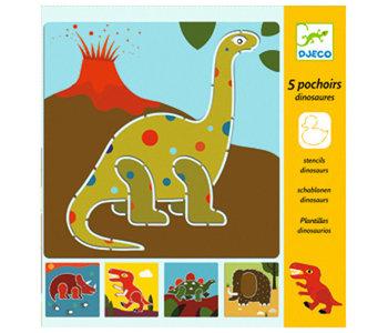 5 Stencils Dinosaurs