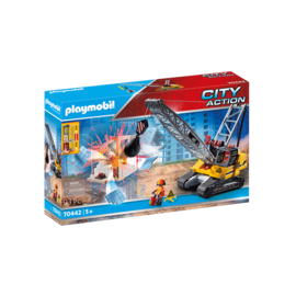 Playmobil Cable Excavator with Building Section 70442