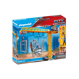 Playmobil Grue Telecommandée avec section de mur 70441