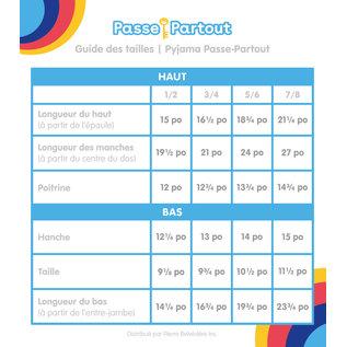 PYJAMA Passe-Partout :  Canelle  3/4