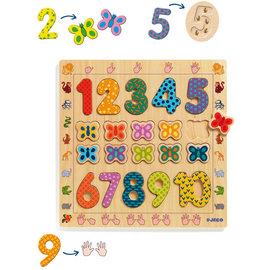 DJECO Wooden Puzzle 1 to 10