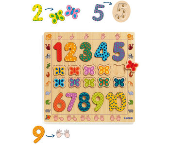 Wooden Puzzle 1 to 10