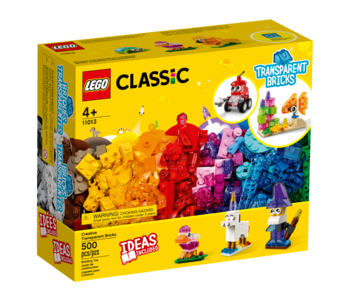 Lego Classic 11013 Briques transparentes créatives