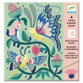 DJECO Scratch cards - Fantasy garden