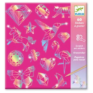 DJECO Cartes à gratter - Diamants