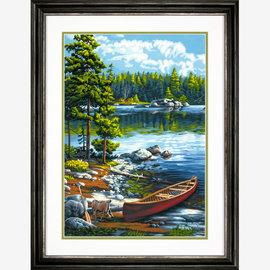 Paintworks Canoë au bord du lac
