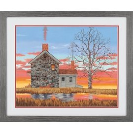 Paintworks Maison au coucher du soleil