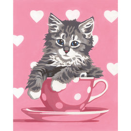 Paintworks Kitten Tea Cup